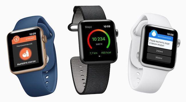 Сравнение Apple Watch Series 2 и 3