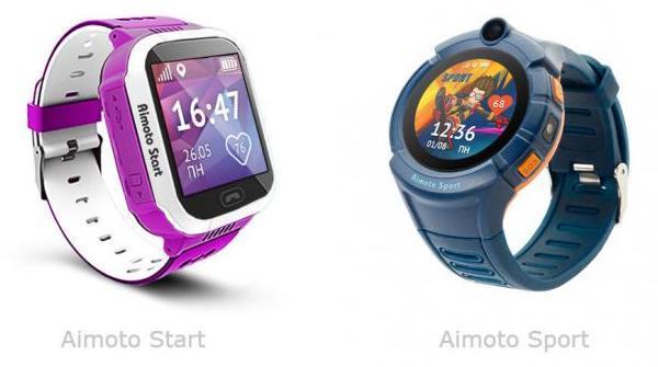 Умные часы для детей кнопка жизни - Aimoto Start и Aimoto Sport