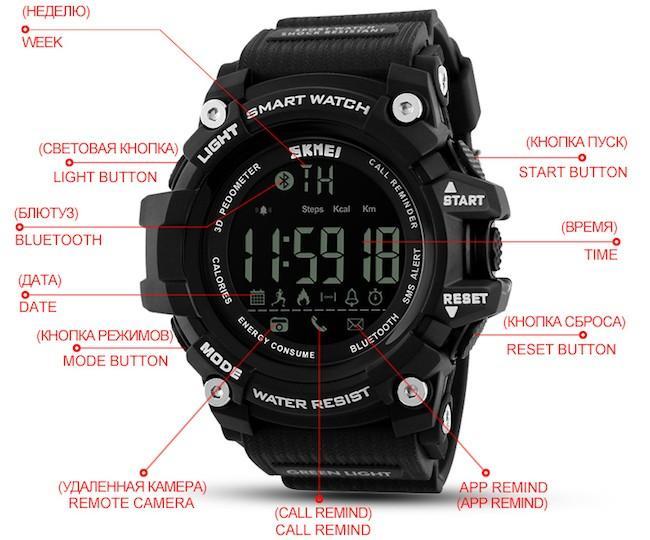 Смарт часы Скмеи – детальное описание моделей 1227, 1228, 1251, 1188