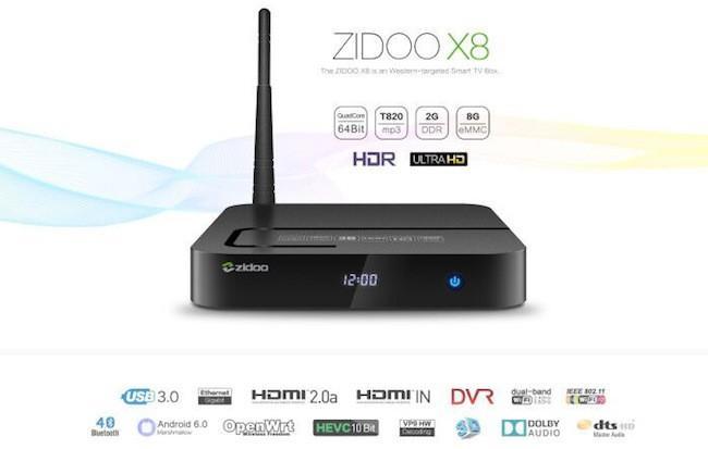 Zidoo x8: многофункциональная тв приставка с поддержкой 4К