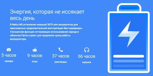 Обзор смартфона Meizu M5 (M611h)