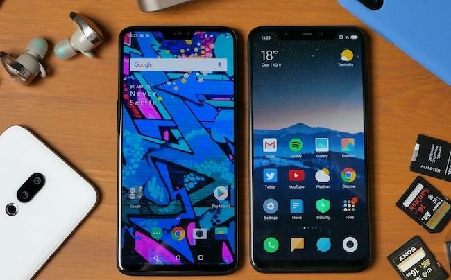 Сравнение смартфонов Xiaomi Mi 8 и OnePlus 6