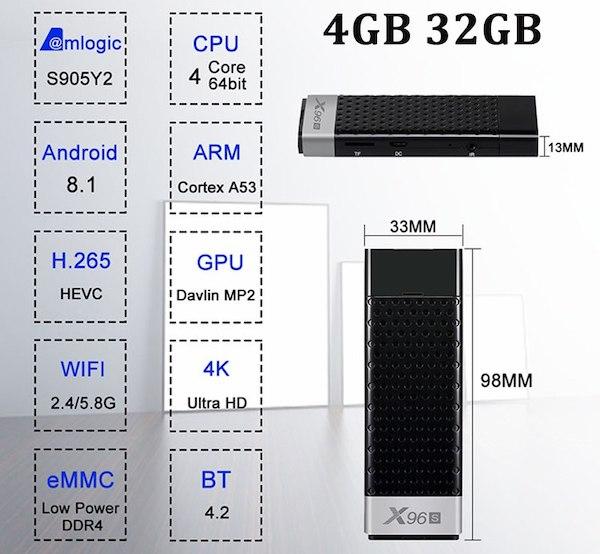 Обзор ТВ-стика X96S на процессоре Amlogic S905Y2 и на Android 8.1