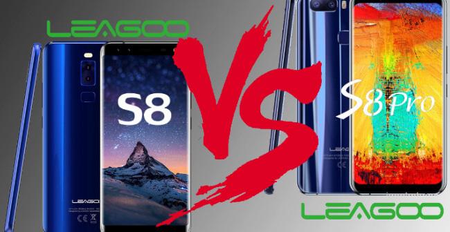Сравнение смартфонов Leagoo S8 и S8 Pro