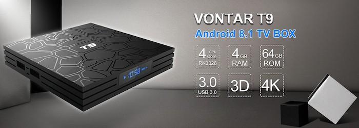 Vontar T9 - Смарт ТВ-бокс на Android 8.1