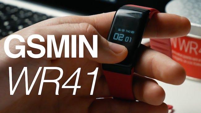 GSMIN WR41 - фитнес браслет с измерением давления и пульса