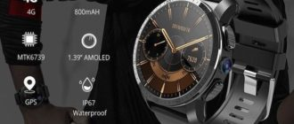 Умные часы Makibes M3 - 4G, Android 7, IP67, камера 8мп