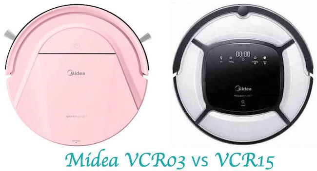 Сравнение и тест роботов-пылесосов Midea VCR03 и VCR15