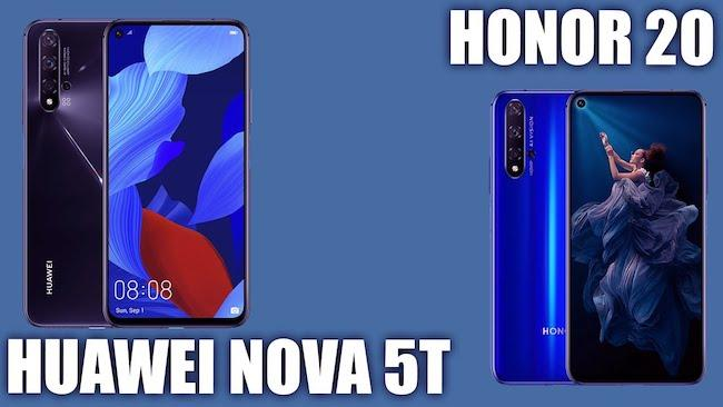 Huawei Nova 5T или Honor 20 — Есть ли разница? Полное сравнение смартфонов
