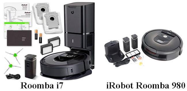 Сравнение роботов-пылесосов iRobot Roomba i7 и Roomba 980