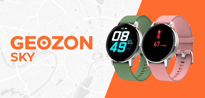 Умные часы GEOZON Sky - контролируют артериальное давление, пульс и количество кислорода в крови