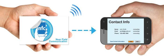 Умная визитка NFC - Быстрый обмен контактами